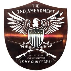 2ND AMENDMENT BADGE - METAL ART THE WET NOSE