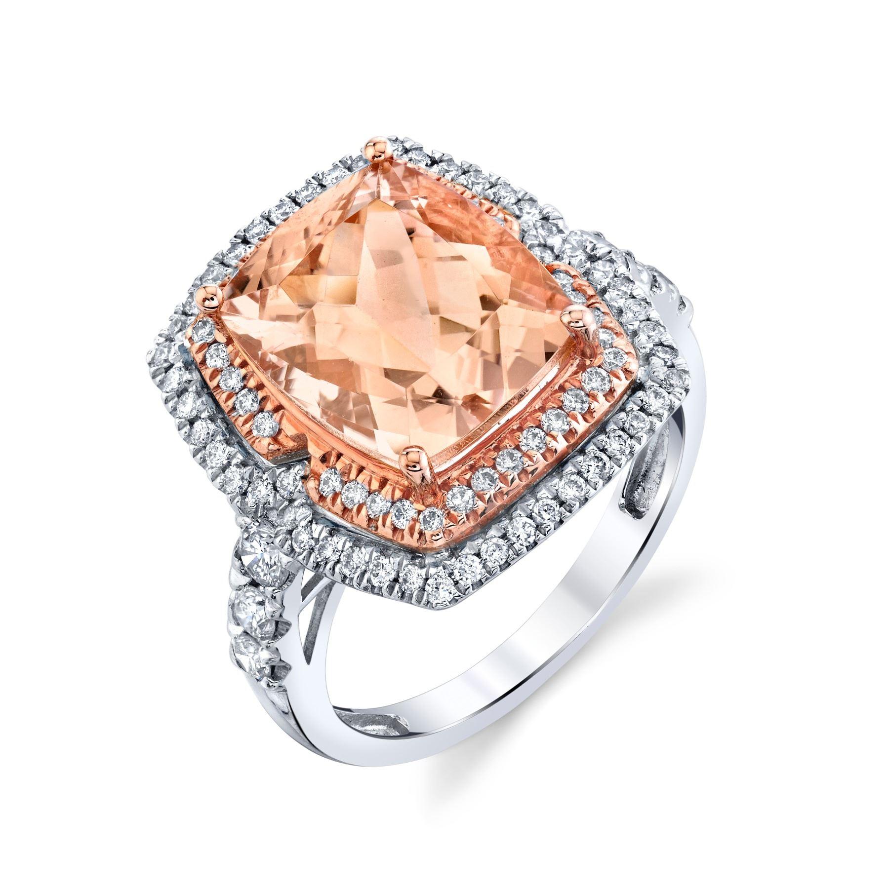 MORGANITE & DIAMOND RING  BARANOF JEWELERS