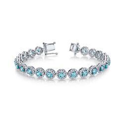 BLUE ZIRCON & DIAMOND BRACELET BARANOF JEWELERS
