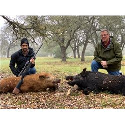 TEXAS HUNT LODGE 2-Day Texas Trophy Wild Boar Hunt for 4 Hunters