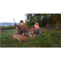 ITALIAN SAFARI Beautiful 3 day/4 Night Italian Safari Hunt for 1 Hunter and 1 Observer for Roe Deer