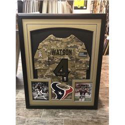 "Limited Edition Houston Texans ""Salute to Service"" Autographed Deshaun Watson Jersey."