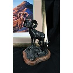 "SLA-44 ""Aravaipa Ram"" Print and Bronze by Thomas Schultz"