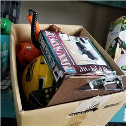 BOX OF FISHING AND SHOP SUPPLIES