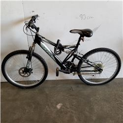 BLACK SILVER HUFFY YOUTH BIKE W/ FRONT DISC BRAKES