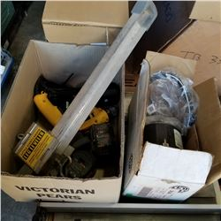 2 BOXES OF ELECTRICAL MOTOR AND CORDLESS BATTERIES