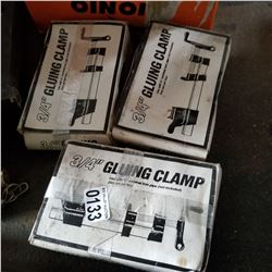 THREE 3.4 INCH GLUING CLAMPS