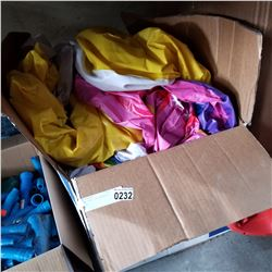 BOX OF POOL INFLATABLES