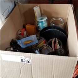 BOX OF FISHING REELS AND TACKLE
