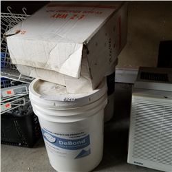 PAIL OF DEPAND PAINT AND COATING REMOVER AND TRUCK MOUNT POWDER EMULSIFIER FOR HARD WATER