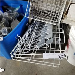 TOTE OF GRIDWALL HOOKS AND WIRE BASKETS