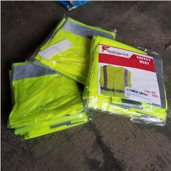 9 NEW REFLECTIVE VESTS