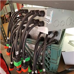 LOT OF LED MAGNETIC DRIVER POWER SUPPLIES AND 2 POWER DISTRIBUTION