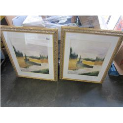 GILT FRAMED SCENERY PICTURE