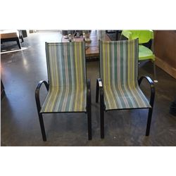PAIR OF STACKING LAWN CHAIRS