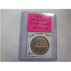 1960 CANADIAN SILVER DOLLAR .800 SILVER