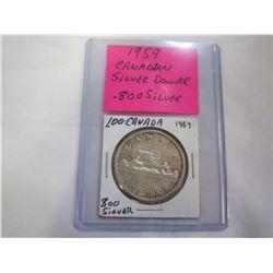 1959 CANADIAN SILVER DOLLAR .800 SILVER