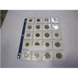 SHEET OF VARIOUS WORLD COINS