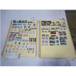 LOT OF US STAMPS - PRE 1970, FACE VALUE $14 US
