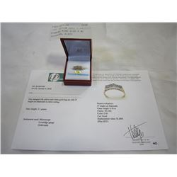 10KT YELLOW GOLD 0.03CT/27 DIAMOND RING SIZE 8 W/ APPRAISAL $1800
