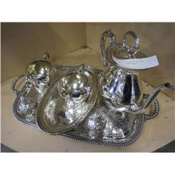 NORMAN OLD ENGLISH SILVER SERVICE 7 PIECE SET