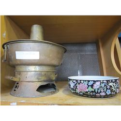 BRASS EASTERN COOKER AND BOWL