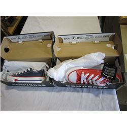 2 PAIRS OF CHILDRENS CONVERSE - SIZE 10.5 US YOUTH