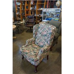 FLORAL WING BACK CHAIR WHOLE HOME