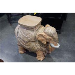 """HEAVY ELEPHANT PLANT STAND W/ MINOR CHIPS - 26"""" x 21"""" x 11"""""""