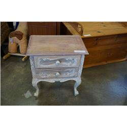 PAINTED 2-DRAWER END TABLE