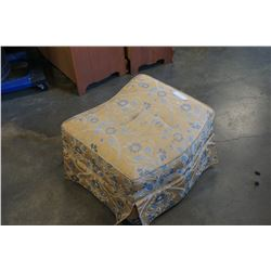 FLORAL YELLOW FOOTSTOOL