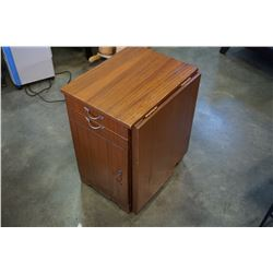 2 DRAWER END TABLE W/ DROP LEAF