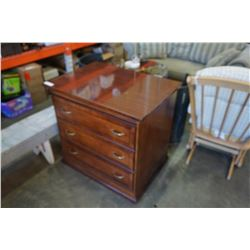 3-DRAWER MAHOGANY FINISH DRESSER