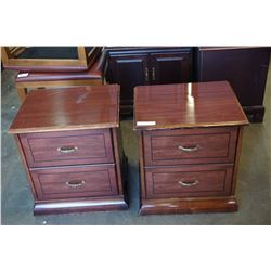 PAIR OF 2-DRAWER END TABLES