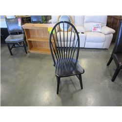 NEW PINE BLACK ANTIQUE HOOP BACK CHAIR - WHOLESALE PRICE $175, CURRENT RETAIL PRICE $269