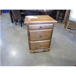 NEW SOLID PINE MONTANA 2 DRAWER AND TRAY NIGHSTAND 22WX18DX30H IN VINTAGE STAIN, DOVETAILED DRAWERS