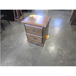 NEW SOLID PINE MONTANA 2 DRAWER NIGHTSTAND 22W18DX26H IN VINTAGE STAIN, DOVETAILED DRAWERS AND ANTIQ