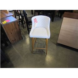 """NEW 24"""" CREAM TUFTED UPHOLSTERED COUNTER STOOL - WHOLESALE PRICE $215, CURRENT RETAIL $289"""