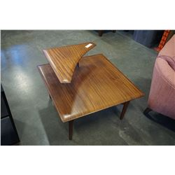 MID-CENTURY MODERN TEAK CORNER END TABLE BY IMPERIAL FURNITURE