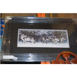 ON THE MOVE WOLF PACK BY RANDY FEHR LIMITED EDITION PRINT 24699