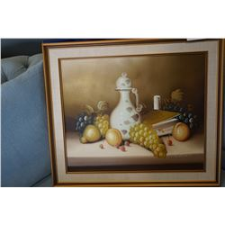 "29 x 25 STANLEY SIGNED OIL ON CAVNAS ""FRUIT OF THE VINE"""