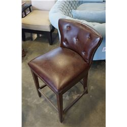 ASHLEY FLOOR MODEL BROWN BAR STOOL