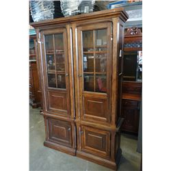 ASHLEY FLOOR MODEL 2 PIECE ILLUMINATED GLASS DOOR DISPLAY PIER UNIT, RETAIL $2749
