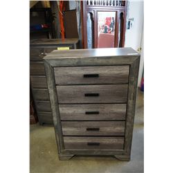 NEW WALTER FURNITURE RUSTIC WOOD LOOK 6 DRAWER HIGHBOY DRESSER