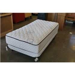 SINGLE SIZE MATTRESS BOX AND ROLLER FRAME BY SEARS O PEDIC WELLNESS