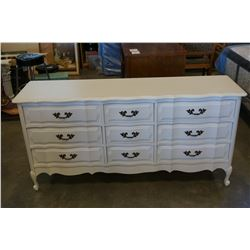 9 DRAWER WHITE FRENCH PROVINCIAL DRESSER