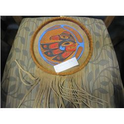 TOOLED LEATHER FIRST NATIONS ART