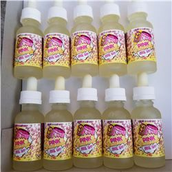 10 BOTTLES OF 30ML VAPE JUICE FUZZY PINK LEMONADE