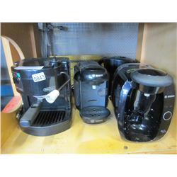 DELONGHI COFFEE ITALIA AND 2 BOSCH TASSIMOS