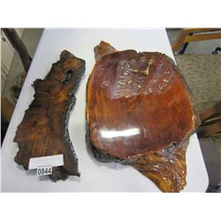 BURL CLOCK AND BURL CRIB BOARD